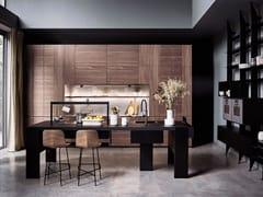 Cucina in acciaio e legno con isolaINTARSIO - TIME BRIDGE - CESAR ARREDAMENTI