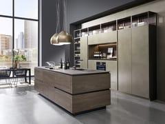 Cucina su misura in ottone con isolaTIO   Cucina in ottone - RATIONAL