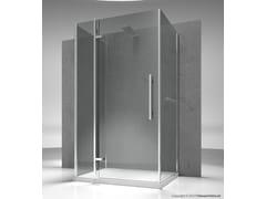 Box doccia su misura in vetro temperato TIQUADRO QF+QA+QG - Tiquadro