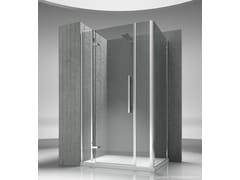 Box doccia angolare su misura in vetro temperato TIQUADRO QM+QG - Tiquadro