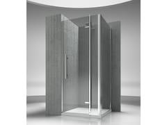 VISMARAVETRO, TIQUADRO QN+QG Box doccia angolare su misura in vetro temperato