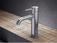 Miscelatore per lavabo da piano monocomando in acciaio inox TKI1 | Miscelatore per lavabo - Toki