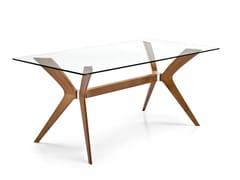 Tavolo rettangolare in legno e vetro TOKYO | Tavolo rettangolare -