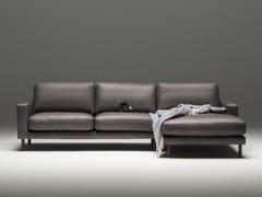 Divano in pelle a 3 posti con chaise longueTOM - SITZFELDT