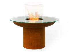 Tavolino con caminetto integratoTONDO TABLE - PLANIKA