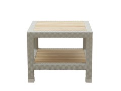 Tavolino da giardino basso quadrato TONGA | Tavolino da giardino quadrato - Tonga