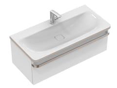 Mobile lavabo singolo sospeso con cassetti TONIC II 100 cm - R4304 - Tonic II