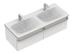 Mobile lavabo doppio sospeso con cassetti TONIC II 120 cm - R4305 - Tonic II