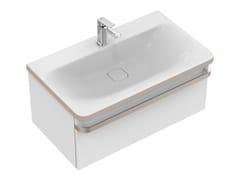 Mobile lavabo singolo sospeso con cassetti TONIC II 80 cm - R4303 - Tonic II
