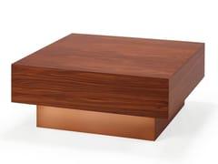 Tavolino quadrato in legno impiallacciato TOO | Tavolino di servizio -