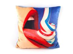 Cuscino quadrato in tessuto TOOTHPASTE | Cuscino - Seletti wears Toiletpaper