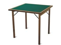 Tavolo da gioco quadrato in legno masselloTORNEO - FRATELLI DEL FABBRO