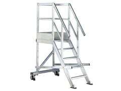 Scala doppia a gradini in alluminioTORRETTA - SVELT