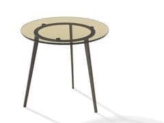 Tavolino rotondo in vetro TOSCA | Tavolino in vetro -