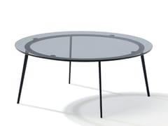 Tavolino da caffè rotondo in vetro colorato TOSCA | Tavolino in vetro colorato -