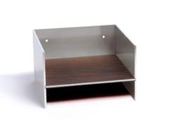 Mensola in alluminio e legnoTOTEM | Mensola in alluminio - ATELIER BELGE
