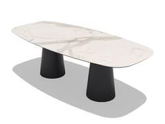 Tavolo da giardino rettangolare in ceramicaTOTEM OUTDOOR | Tavolo in ceramica - SOVET ITALIA