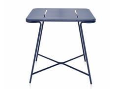 Tavolo da giardino quadrato in acciaio verniciato a polvereTOTEM | Tavolo quadrato - ANIMO D.O.O.