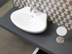 Lavabo da appoggio in ceramica con troppopieno TOUCH | Lavabo con troppopieno - Touch