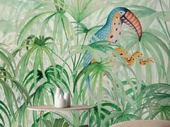 Carta da parati tropicale PVC free, eco, lavabileTOUKE-TOUKE JUNGLE - WALLPEPPER
