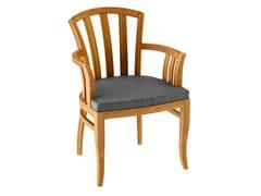 Sedia da giardino in teak decò con braccioliTOURNESOL | Sedia da giardino con braccioli - ASTELLO BY THIERRY MASSANT