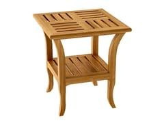 Tavolino da giardino di servizio quadrato in teak decò TOURNESOL | Tavolino da giardino quadrato - Tournesol
