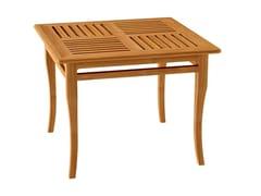 Tavolo da giardino quadrato in teak decòTOURNESOL | Tavolo quadrato - ASTELLO BY THIERRY MASSANT