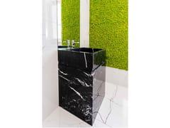 Lavabo freestanding in marmo Nero MarquinaTOWER MARQUINIA - R.G. SERVICE