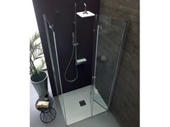 Box doccia angolare con porta a soffiettoTPS35 + TELF | Box doccia angolare - TAMANACO