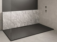 Piatto doccia rettangolare in Silexpol®TRACE - FIORA