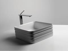 Lavabo quadrato singolo in ceramicaTRACE | Lavabo quadrato - VALDAMA