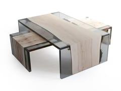 Tavolino da caffè rettangolareTRAIL   Tavolino da caffè - ALCAROL DI ELEONORA DAL FARRA