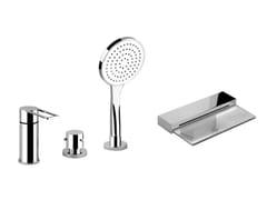 Miscelatore per vasca a 4 fori con doccetta TRASPARENZE 34245 - Trasparenze