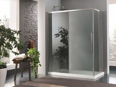 INDA®, TRENDY DESIGN - 2 Box doccia in vetro con porta scorrevole