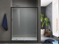 INDA®, TRENDY DESIGN - 3 Box doccia a nicchia in vetro con porta scorrevole