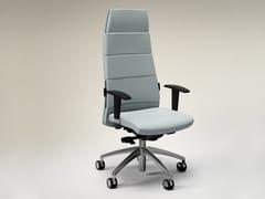 Sedia ufficio in pelle a 5 razze con braccioliTRENDY FIRST CLASS   Sedia ufficio - FANTONI
