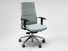 Sedia ufficio in pelle a 5 razze con braccioliTRENDY FIRST CLASS   Sedia ufficio con braccioli - FANTONI