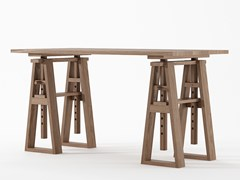 Scrivania ad altezza regolabile rettangolare in legno masselloTRESTLE   Scrivania ad altezza regolabile - KARPENTER