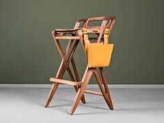 Sgabello alto in legno massello con poggiapiediTRIANGLE | Sgabello - HOOKL UND STOOL