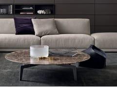 Tavolino basso rotondo in rovere TRIBECA | Tavolino basso - Tribeca