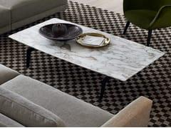 Tavolino basso rettangolare in marmo in stile moderno da salotto TRIBECA | Tavolino rettangolare - Tribeca