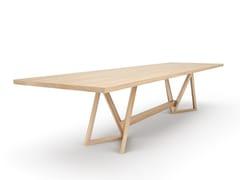 Tavolo / tavolo da riunione in legno masselloTRIMUS - BELFAKTO