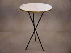 Tavolo alto con top in marmo e base in acciaioTRIPODE   Tavolo alto - DADRA