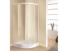 Box doccia semicircolare con porta scorrevoleTRIS | R - NOVELLINI