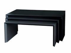 Tavolino salotto metallo tavolino triangolare di metallo finity