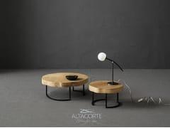 Tavolino basso rotondo in rovereTRONCO - ALTA CORTE