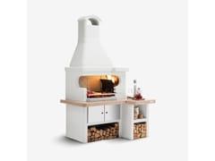 Barbecue a carbonella a legna in cementoTROPEA - PALAZZETTI LELIO