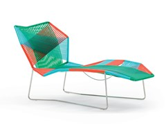 Chaise longue in intreccio in filo tecnopolimero TROPICALIA | Chaise longue - MOROSO