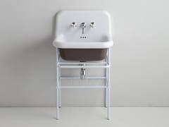 Lavabo a consolle singolo in ceramicaTRUECOLORS | Lavabo in ceramica - BLEU PROVENCE