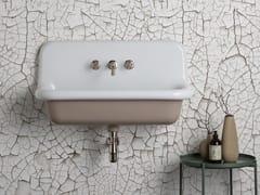 Lavabo rettangolare sospeso in ceramicaTRUECOLORS TCL90 - BLEU PROVENCE